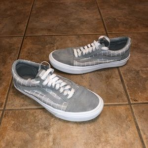 Vans Old Skool Checkered Sneaker Shoes sz 8.5
